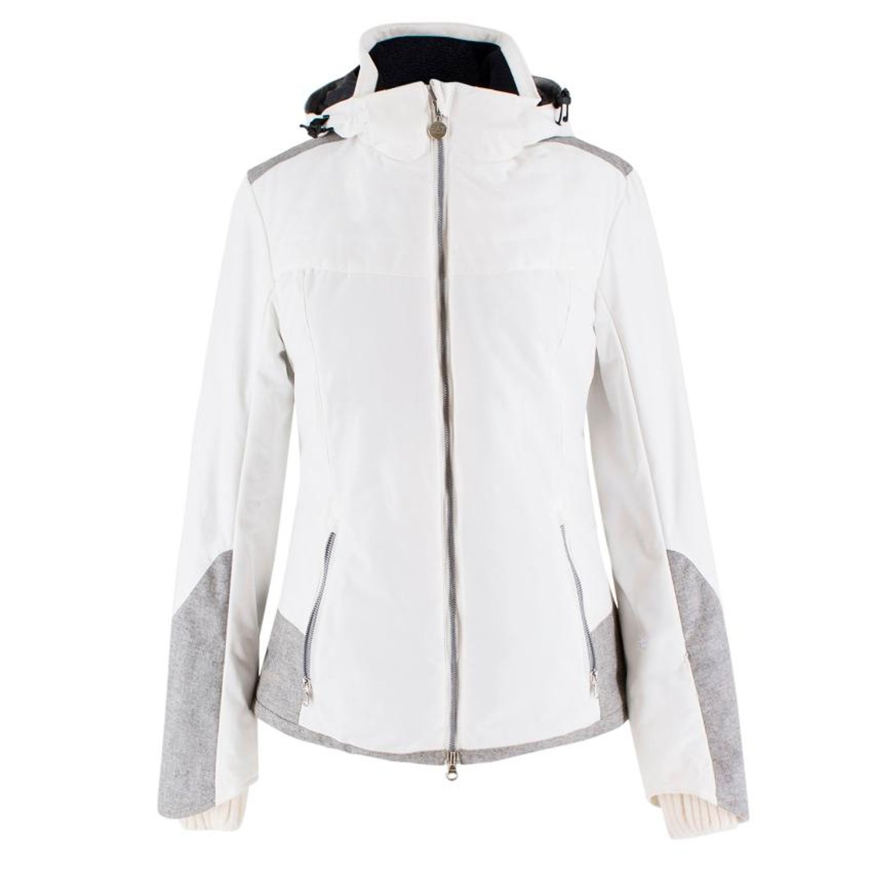 c4cd5dc53cfac Armani EA7 Grey Tweed Panel White Ski Jacket