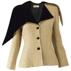Armani Houndstooth & Velvet Jacket