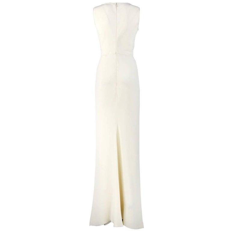 White Armani Ivory Silk Vintage Wedding Dress, 2000s For Sale