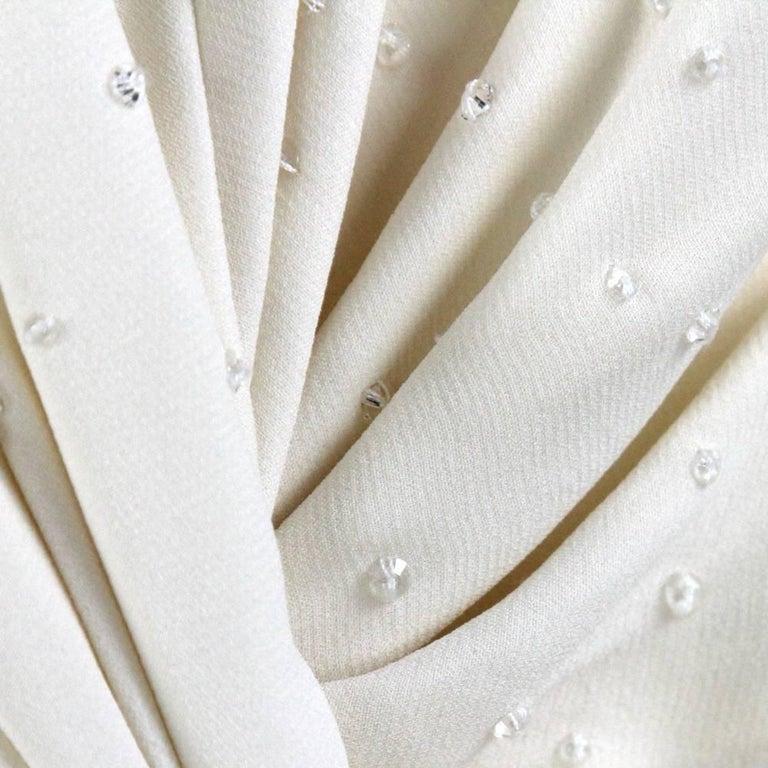Women's Armani Ivory Silk Vintage Wedding Dress, 2000s For Sale
