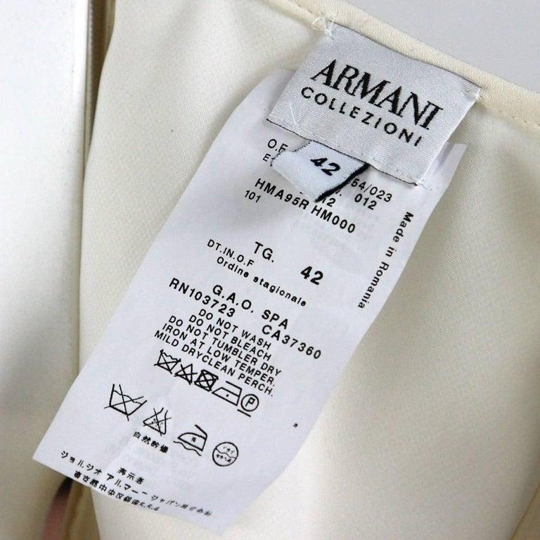 Armani Ivory Silk Vintage Wedding Dress, 2000s For Sale 1