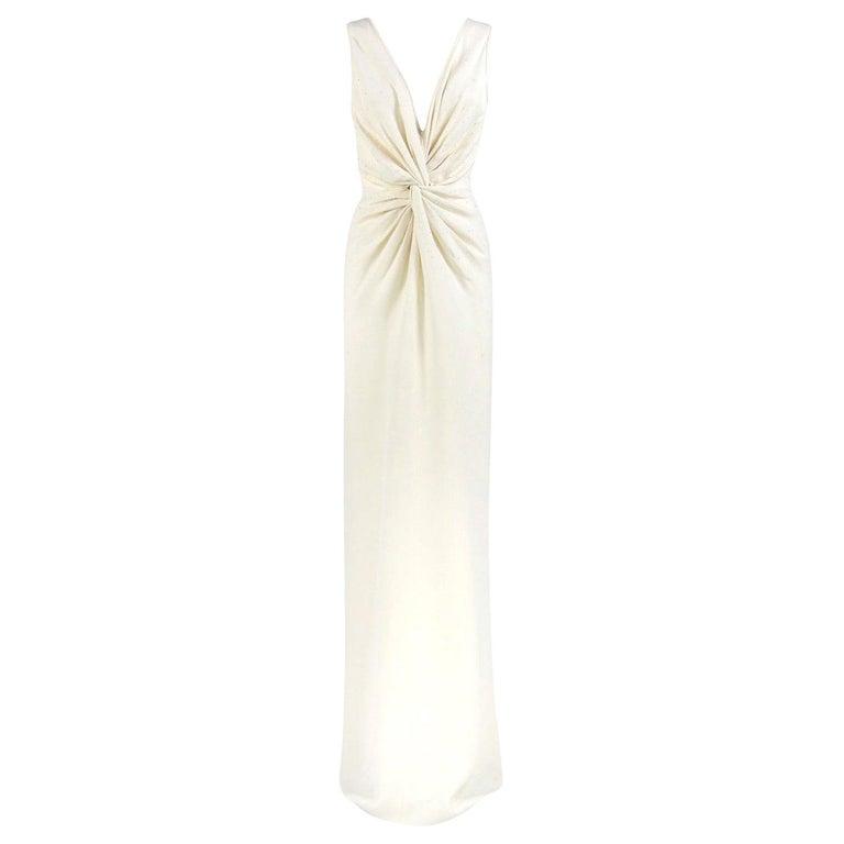 Armani Ivory Silk Vintage Wedding Dress, 2000s For Sale