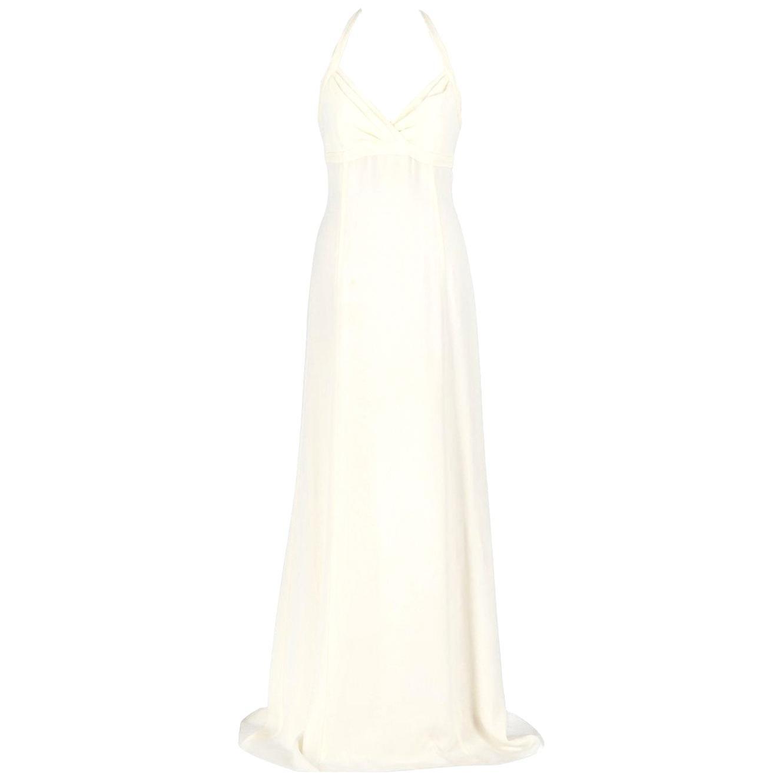 Armani Ivory White Silk Wedding Dress, 2000s