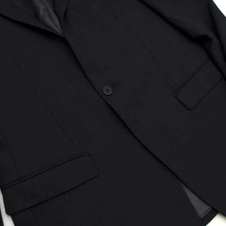 Men's Armani Navy Blue Wool Blend JacketSIZE 50 For Sale