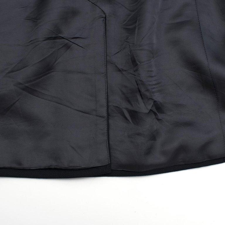Armani Navy Blue Wool Blend JacketSIZE 50 For Sale 3