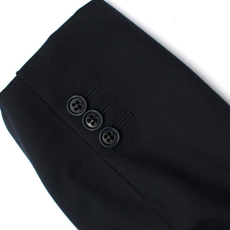 Armani Navy Blue Wool Blend JacketSIZE 50 For Sale 4