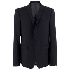 Armani Navy Blue Wool Blend Jacket	SIZE 50