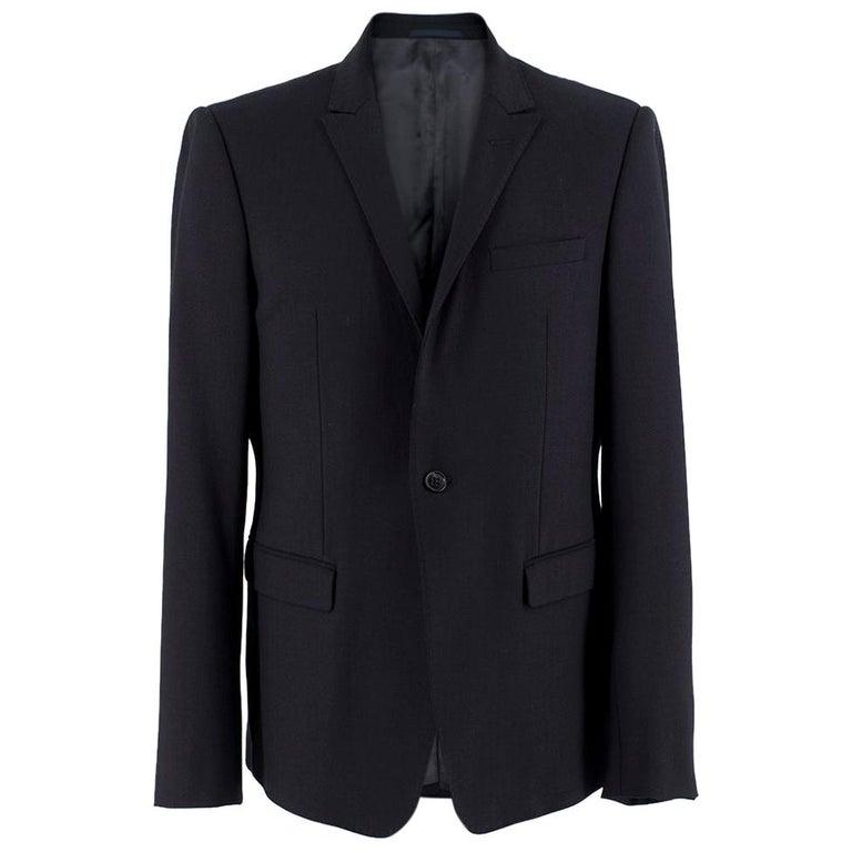 Armani Navy Blue Wool Blend JacketSIZE 50 For Sale