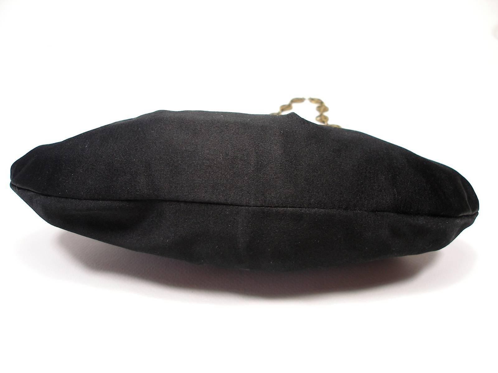 1stdibs Armani Vintage Evening Small Handbag Or Clutch Black Satin And Strass Butterfly 6q5lL2g