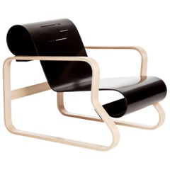 "Armchair 41 ""Paimio"" in Birch and Black by Alvar Aalto & Artek"