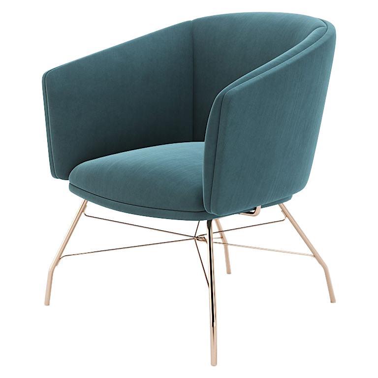 Armchair, Armchair with Metal Legs