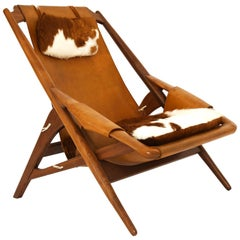 Armchair Arne Tidemand-Ruud Made for ISA Bergamo Italy Teak and Leather
