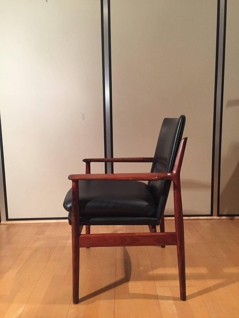 Swedish Armchair Arne Vodder for Sibast Rosewood Model 431 For Sale
