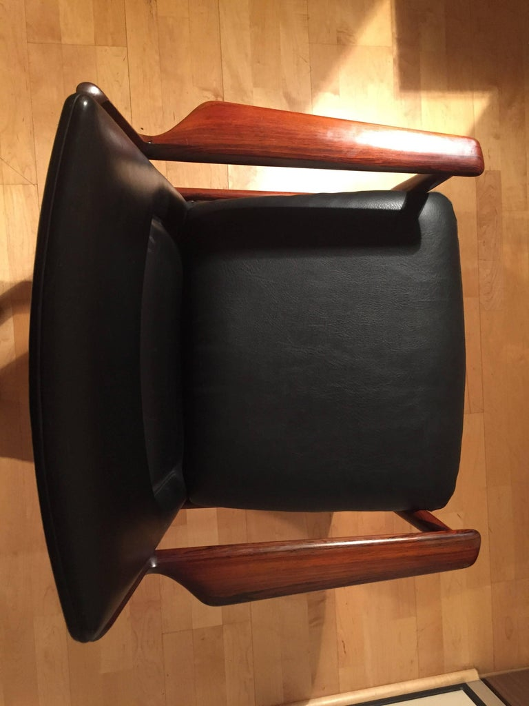 Mid-20th Century Armchair Arne Vodder for Sibast Rosewood Model 431 For Sale