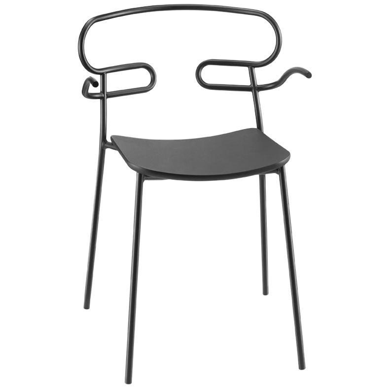 Armchair Art, 0048 Metal Frame, Varnish Different Colours, Polyurethane Seat