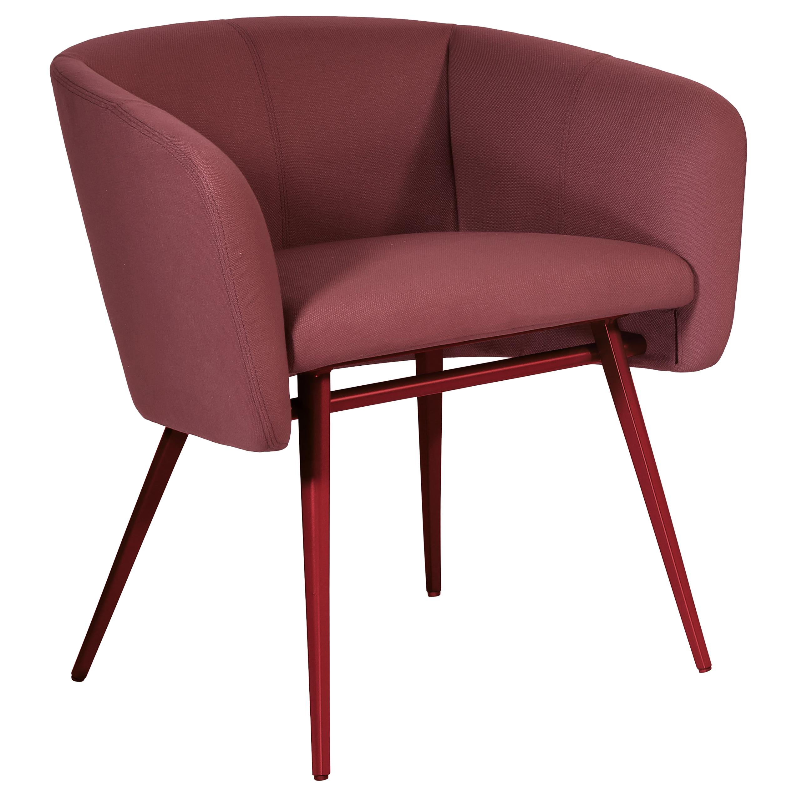Armchair Art, Balu' Metal Frame Varnish and Fabric Red by Emilio Nanni