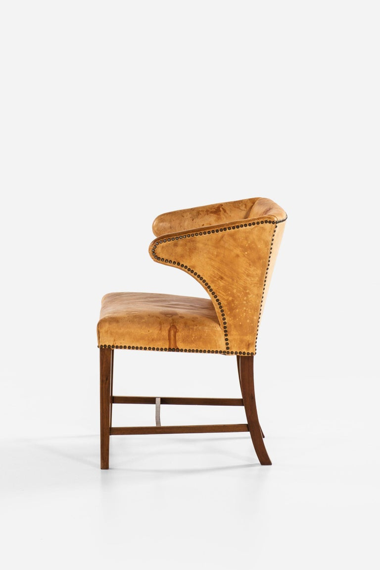 Mid-20th Century Armchair Attributed to Frits Henningsen by cabinetmaker Frits Henningsen For Sale