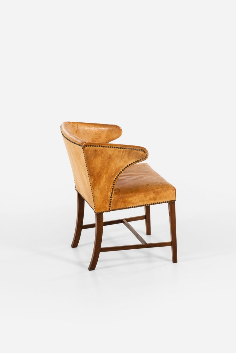 Armchair Attributed to Frits Henningsen by cabinetmaker Frits Henningsen For Sale 1