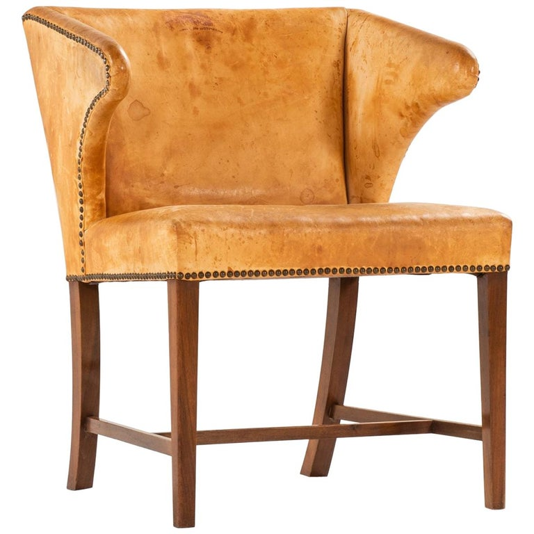 Armchair Attributed to Frits Henningsen by cabinetmaker Frits Henningsen For Sale