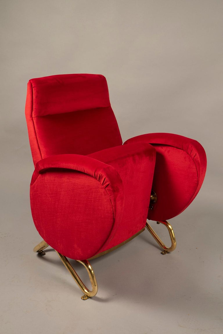 Mid-Century Modern Armchair by Carlo Mollino, Italy, 1950-1953 For Sale