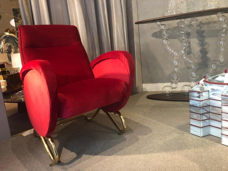 Italian Armchair by Carlo Mollino, Italy, 1950-1953 For Sale