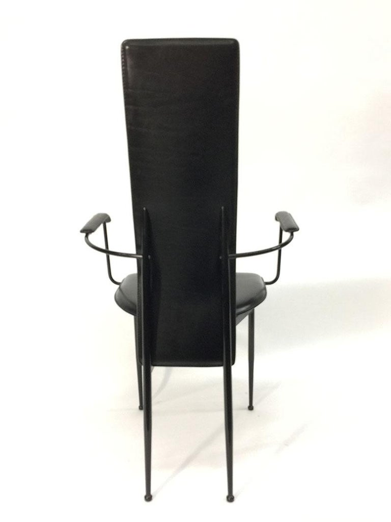 20th Century Armchair by Giancarlo Vegni and Gianfranco Gualtierotti for Fasem, Italy, 1980s For Sale