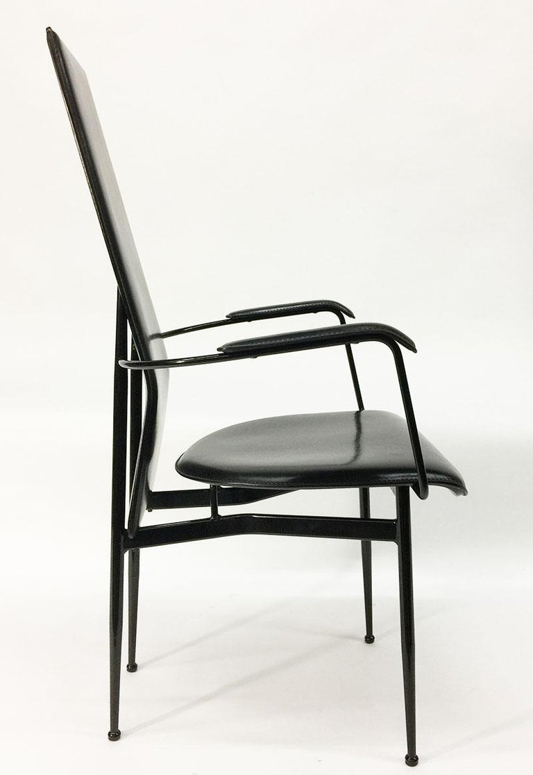 Metal Armchair by Giancarlo Vegni and Gianfranco Gualtierotti for Fasem, Italy, 1980s For Sale