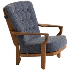 Armchair by Guillerme & Chambron, France, circa 1950