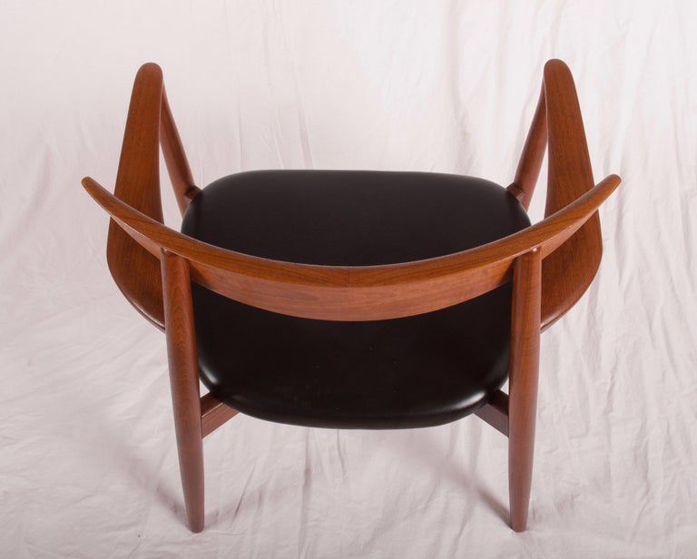 Mid-20th Century Armchair by Harry Østergaard, Denmark, Early 1960s For Sale