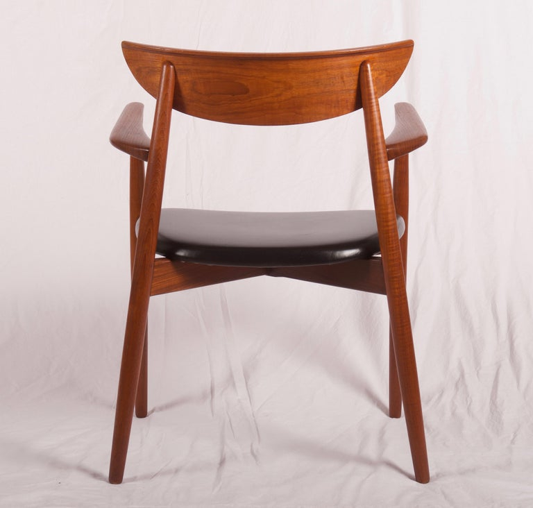 Leather Armchair by Harry Østergaard, Denmark, Early 1960s For Sale