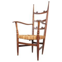 Armchair by Hugo Gorge in Walnut and Rope, Austria, circa 1925