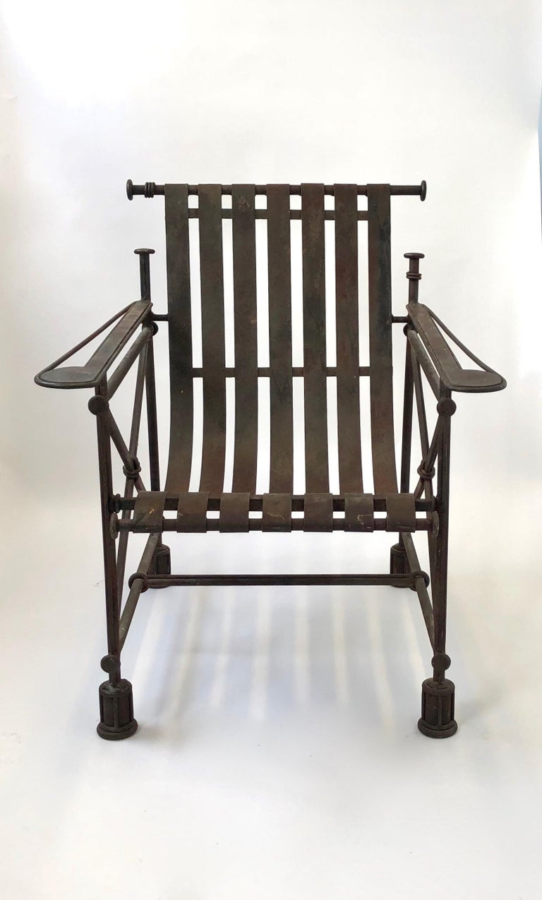 Iron Armchair by Ilana Goor, Israel, circa 1990 For Sale