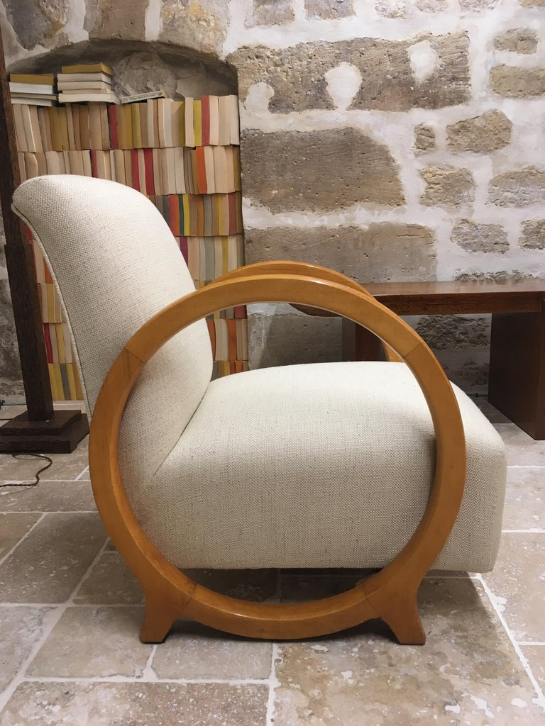Armchair by Jacques Adnet For Sale 3