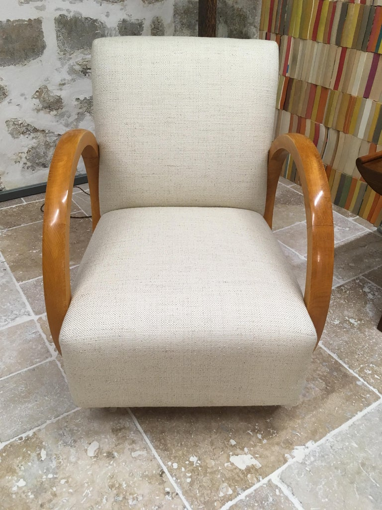 Art Deco Armchair by Jacques Adnet For Sale