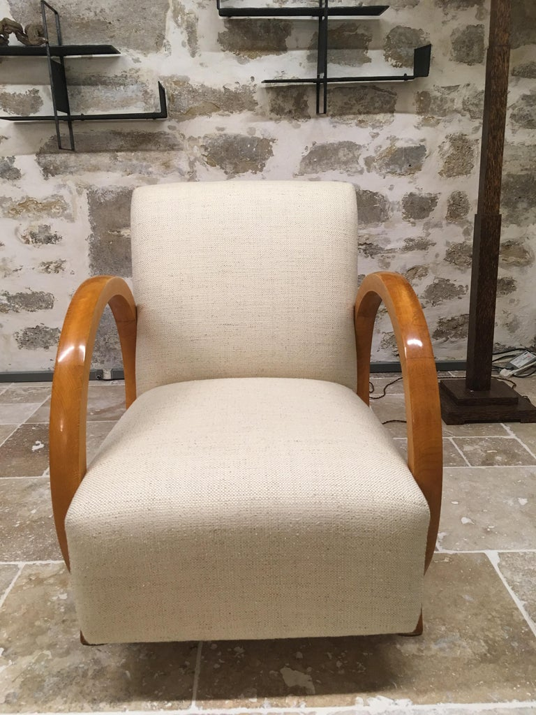 Armchair by Jacques Adnet For Sale 1