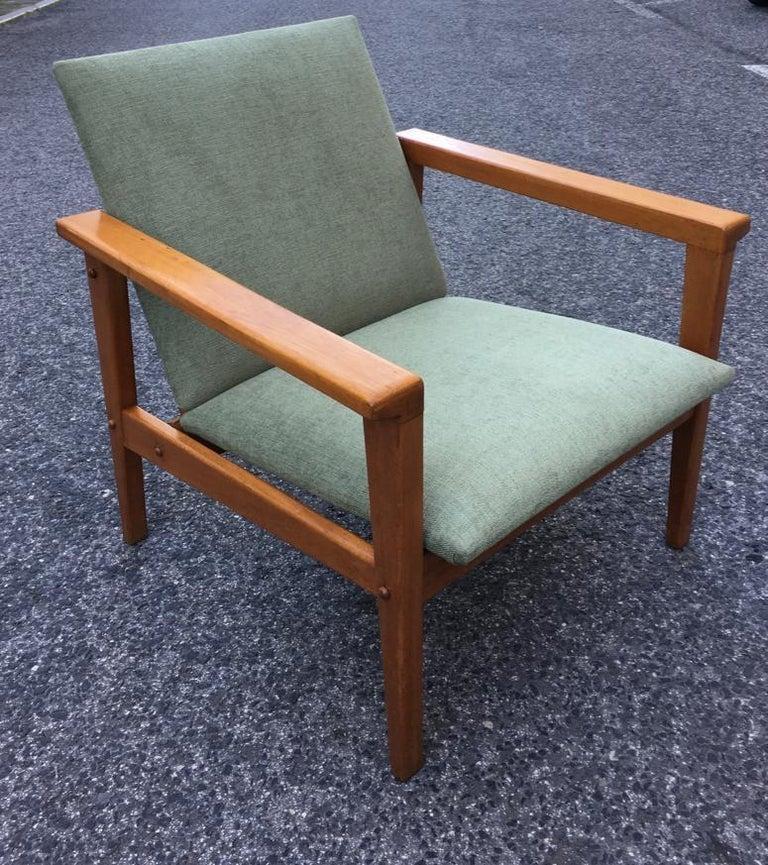 Beech Armchair by José Espinho for Olaio, Portugal, 1960s For Sale