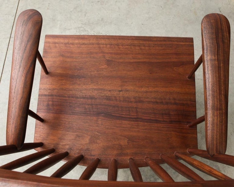 Armchair in Walnut by Michael Rozell, USA, 2021 For Sale 4