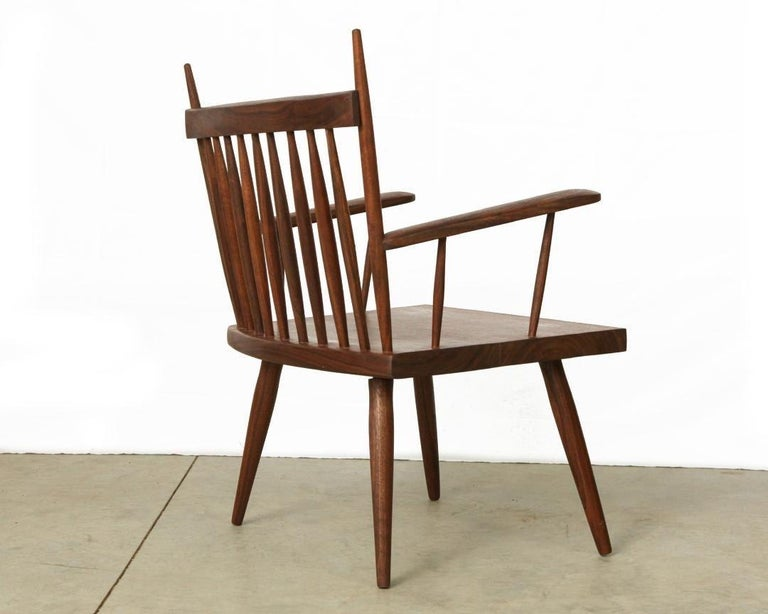 Mid-Century Modern Armchair in Walnut by Michael Rozell, USA, 2021 For Sale