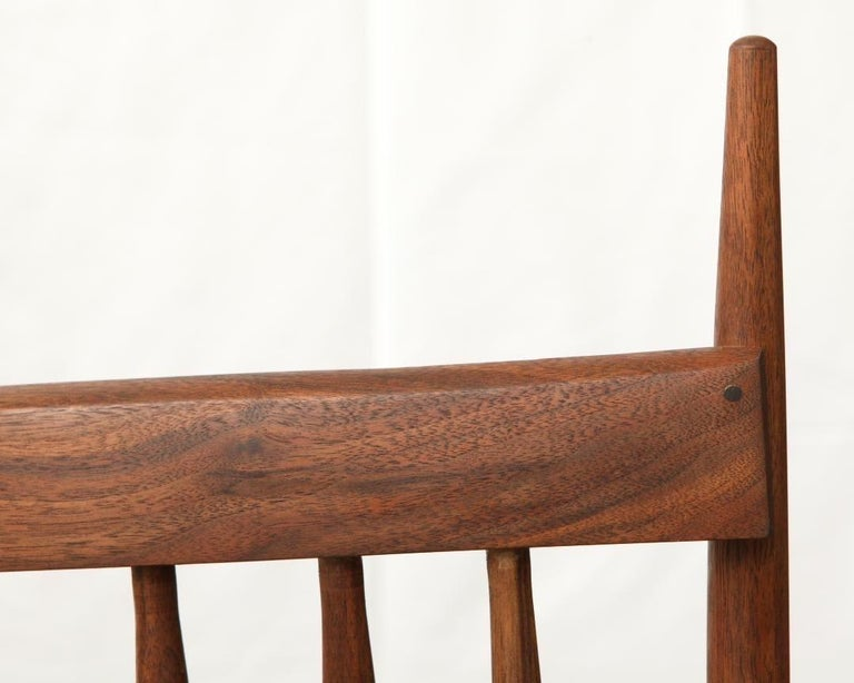 Armchair in Walnut by Michael Rozell, USA, 2021 In New Condition For Sale In Berlin, DE