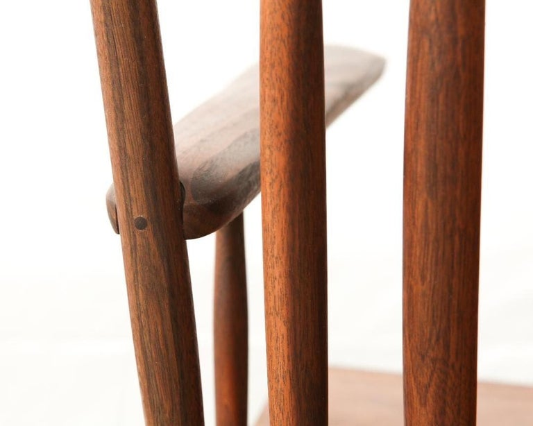 Contemporary Armchair in Walnut by Michael Rozell, USA, 2021 For Sale