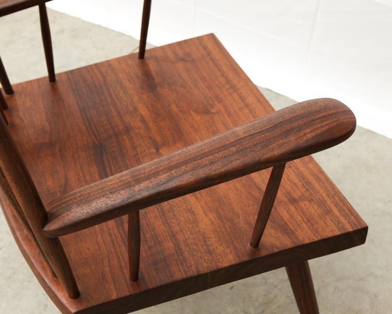 Armchair in Walnut by Michael Rozell, USA, 2021 For Sale 1