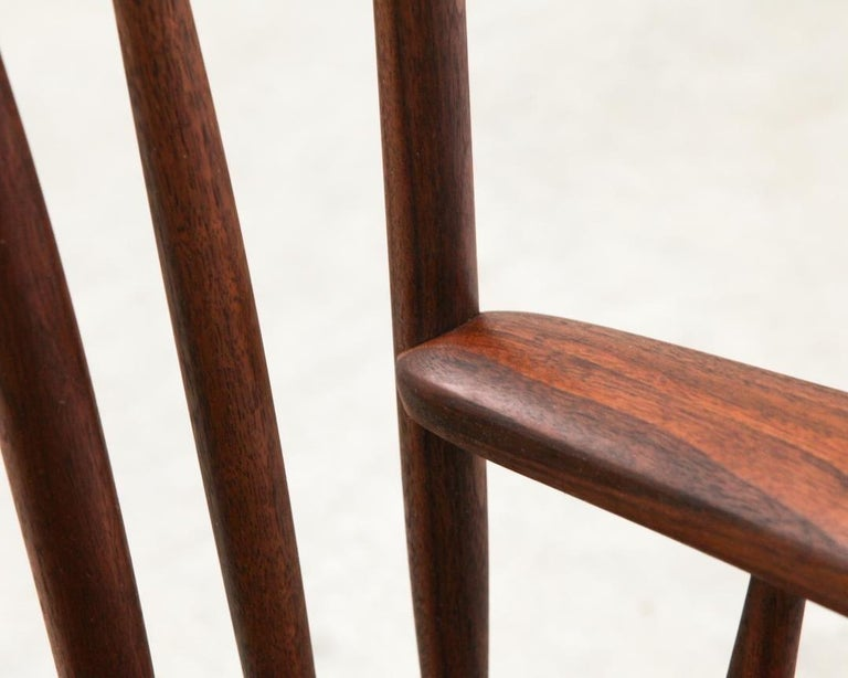 Armchair in Walnut by Michael Rozell, USA, 2021 For Sale 3