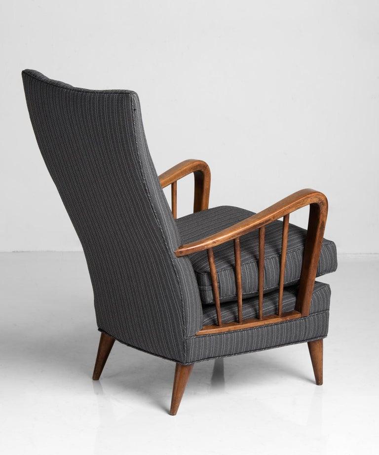 Mid-Century Modern Armchair by Osvaldo Borsani, Italy, circa 1950 For Sale