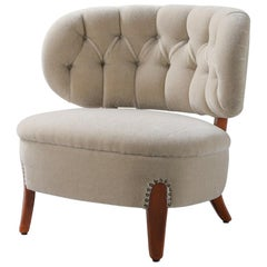 Armchair by Otto Schulz 1930s-1940s Upholstered in Bespoke Mohair