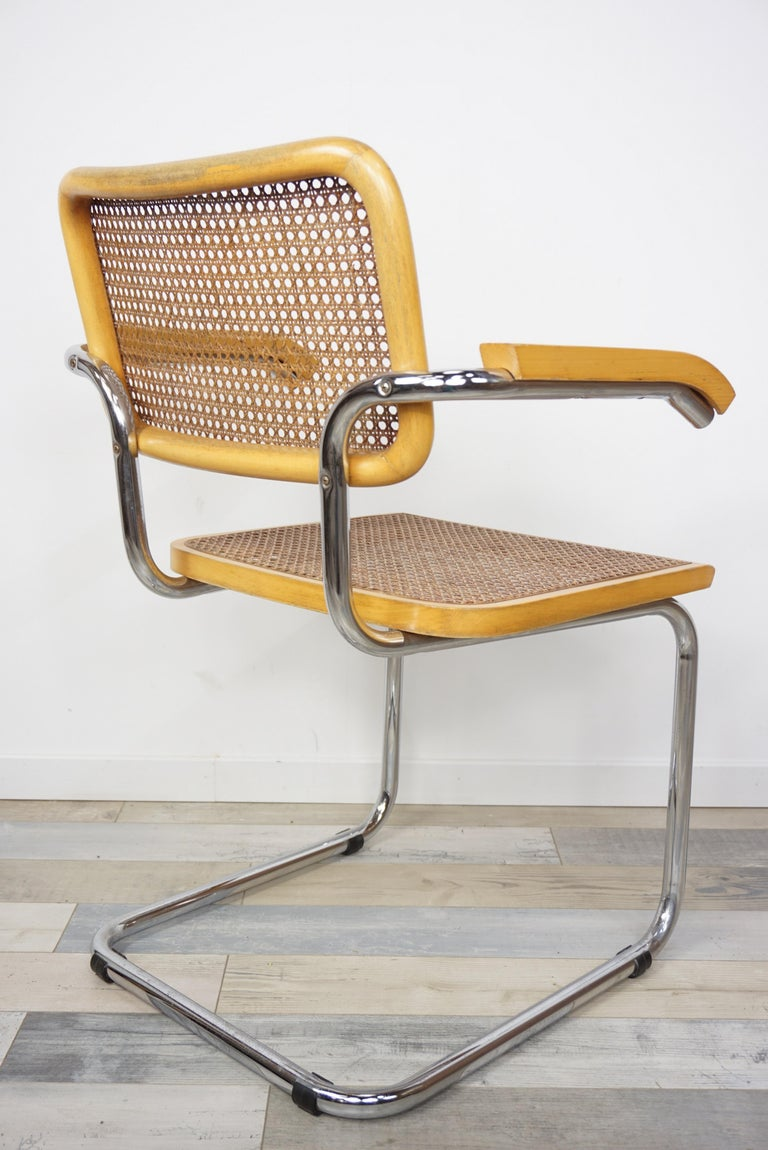 Armchair Cesca B64 Model French Design Marcel Breuer In Excellent Condition For Sale In TOURCOING, FR
