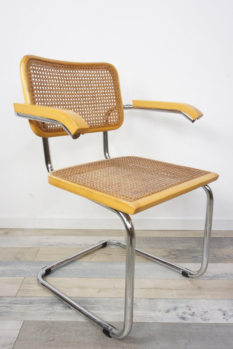 20th Century Armchair Cesca B64 Model French Design Marcel Breuer For Sale