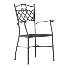 Armchair / Chair in Wrought Iron, Garden Furniture, Indoor and Outdoor