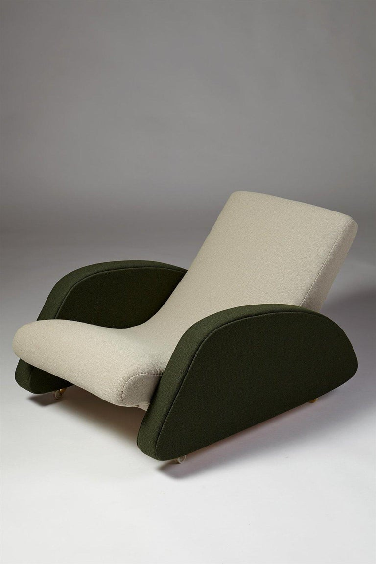 Armchair designed by Bo Wretling for Otto Wretling, Sweden, 1930s. Wool upholstery.