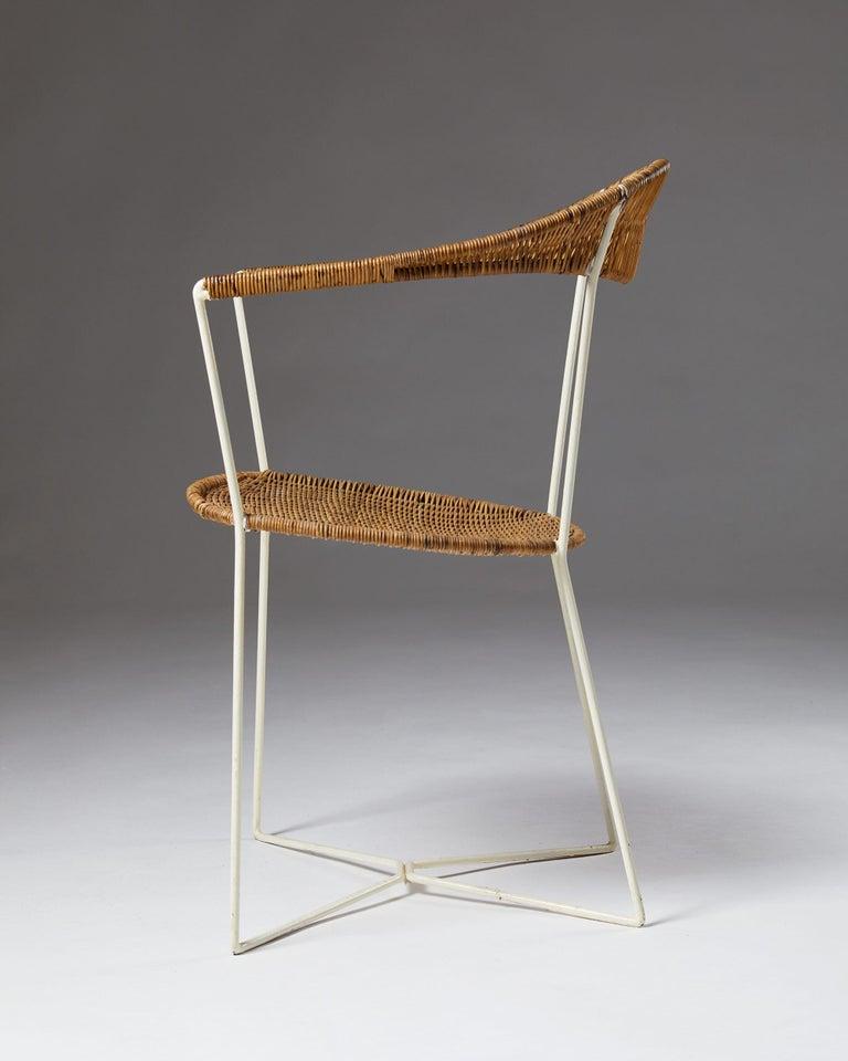 Hand-Woven Armchair designed by Ivar Callmander, Sweden, 1920s For Sale