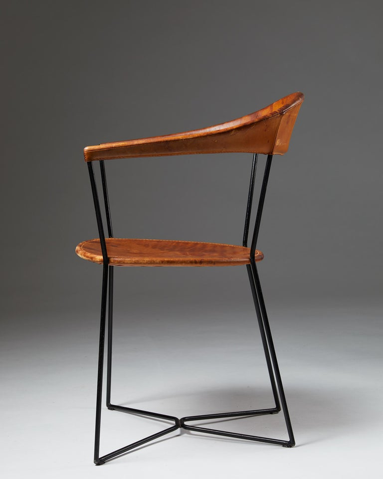 Lacquered Armchair Designed by Ivar Callmander, Sweden, 1930s For Sale